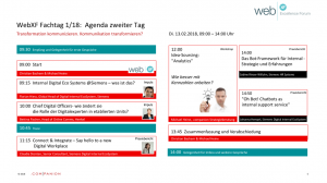 Web Excellence Fachtag 1 18_Agenda_180112
